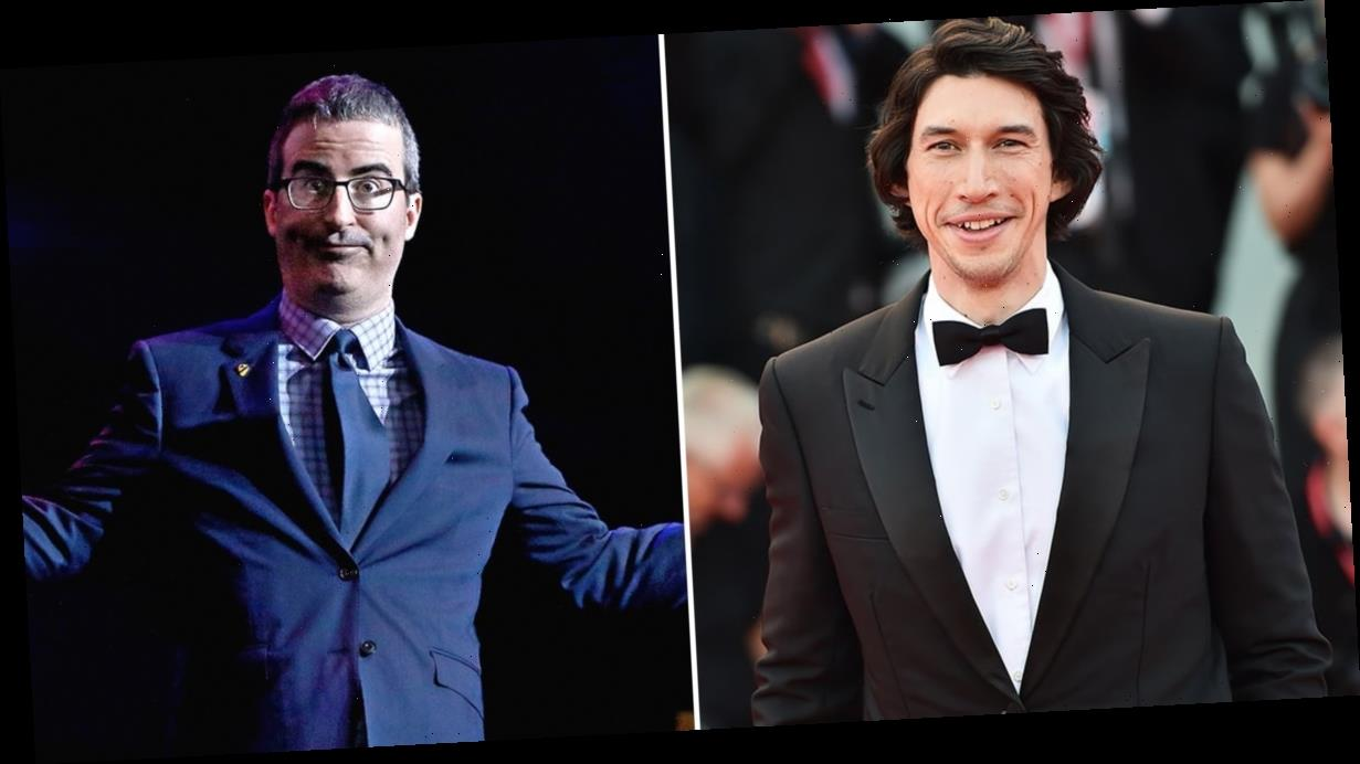 """Adam Driver Finally Confronted John Oliver About His Thirst: """"What the F*ck Are You Doing?"""