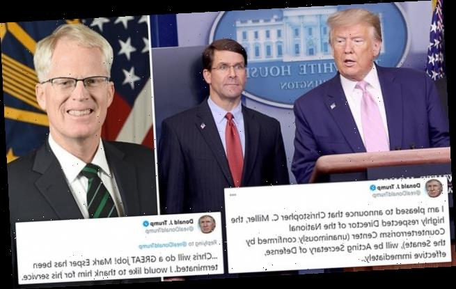 Donald Trump FIRES defense secretary Mark Esper