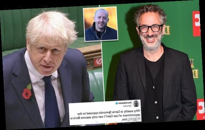 David Baddiel deletes gay sex joke accusing Boris of 'sh******' aide