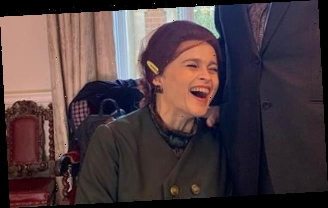 Behind-the-scenes: Helena Bonham Carter, Gillian Anderson, Emma Corrin