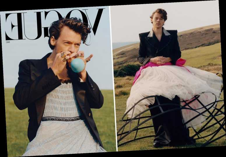 Harry Styles wears a dress for US Vogue as first male cover star in 127 years