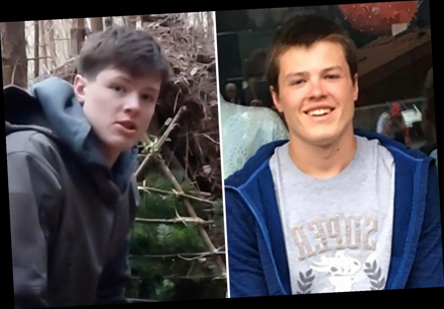 Boy, 17, stressed over his plans for leaving school, found hanged in woods by his dad