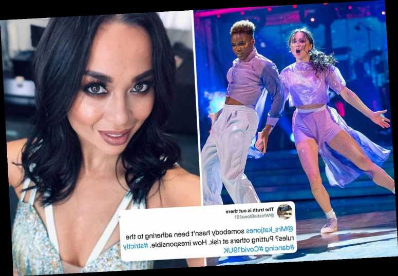 Strictly's 'irresponsible' Katya Jones slammed and accused of 'breaking the rules' by viewers after catching coronavirus