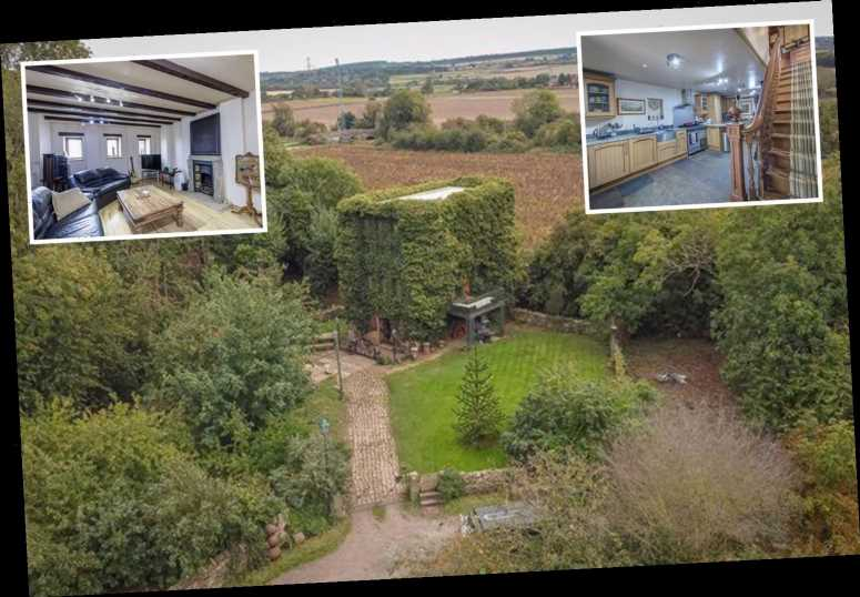 Four-storey camouflaged house in grounds of former World War 2 Prisoner of War camp on the market for £500K