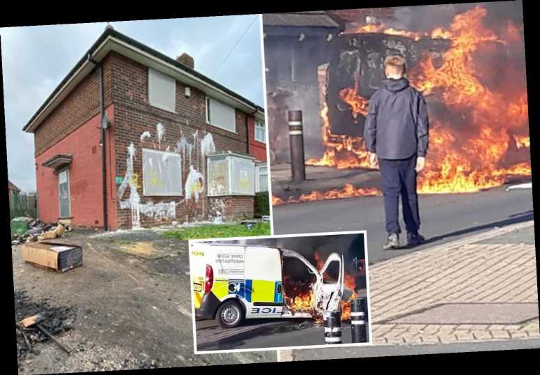 Inside 'lawless' Leeds estate dubbed 'The Zoo' where police attacked by yobs and cars left burning in the road