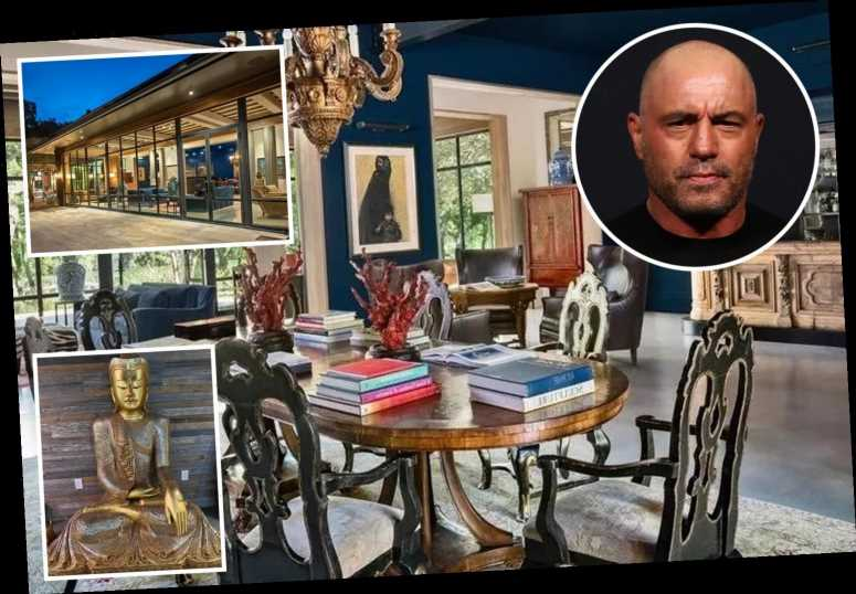 Inside UFC legend Joe Rogan's stunning Asian-inspired £11m Texas mansion with pool, giant Buddha and custom podcast room