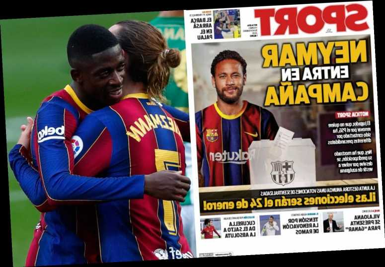 Neymar 'will QUIT PSG in summer with Barcelona transfer back on but Griezmann and Dembele may be sold to fund move'