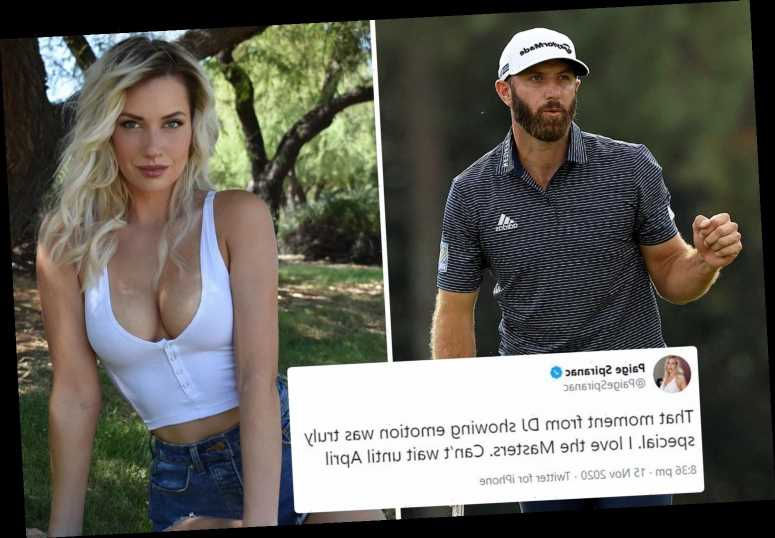 Paige Spiranac can't wait for Masters 2021 after emotional Dustin Johnson's 'truly special' moment