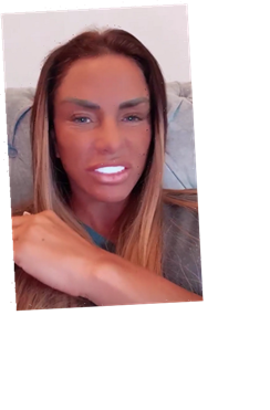 Katie Price says she 'doesn't care' about ex Peter Andre and begs people to 'respect his wife Emily' in furious rant