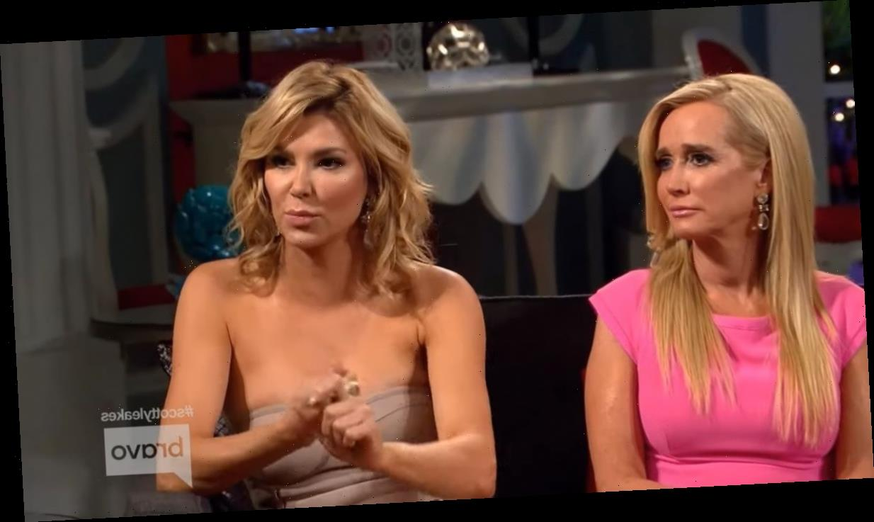 Brandi Glanville allegedly hooked up with someone else in the RHOBH group, was it Kim Richards?