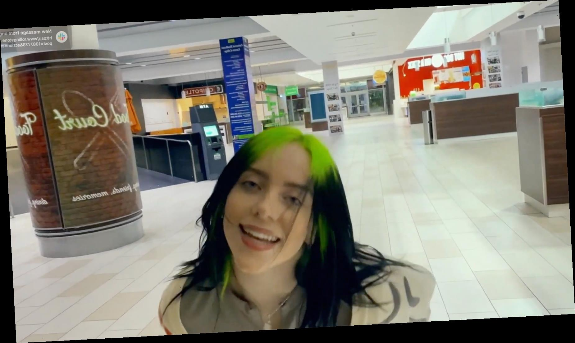 Billie Eilish Roams Deserted California Mall in 'Therefore I Am' Video
