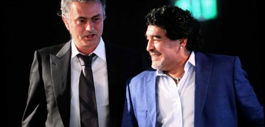 Jose Mourinho reveals Diego Maradona used to call him with words of encouragement after he lost matches
