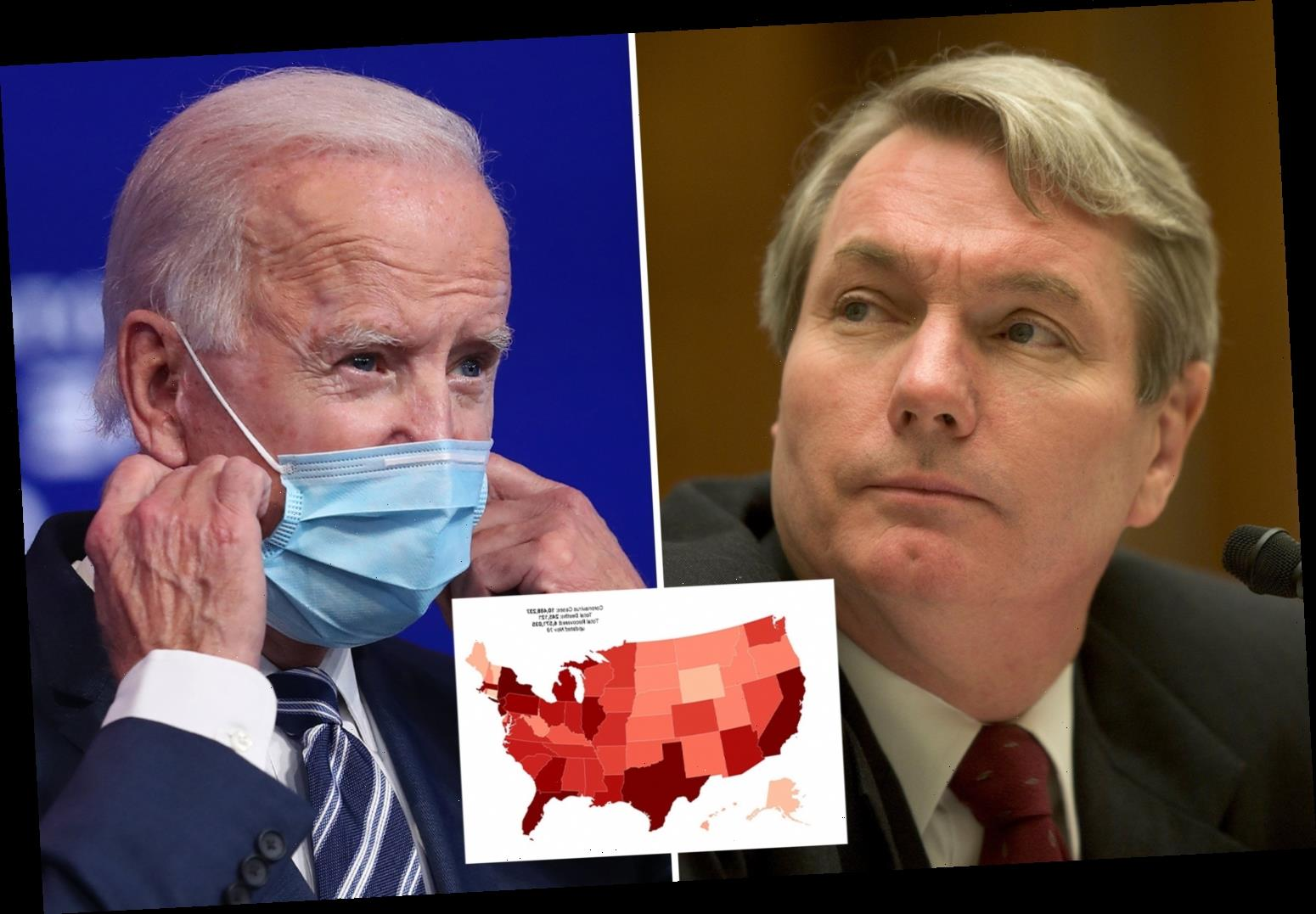 Biden's coronavirus adviser recommends TOTAL US lockdown for up to six weeks as daily infections hit record 145k
