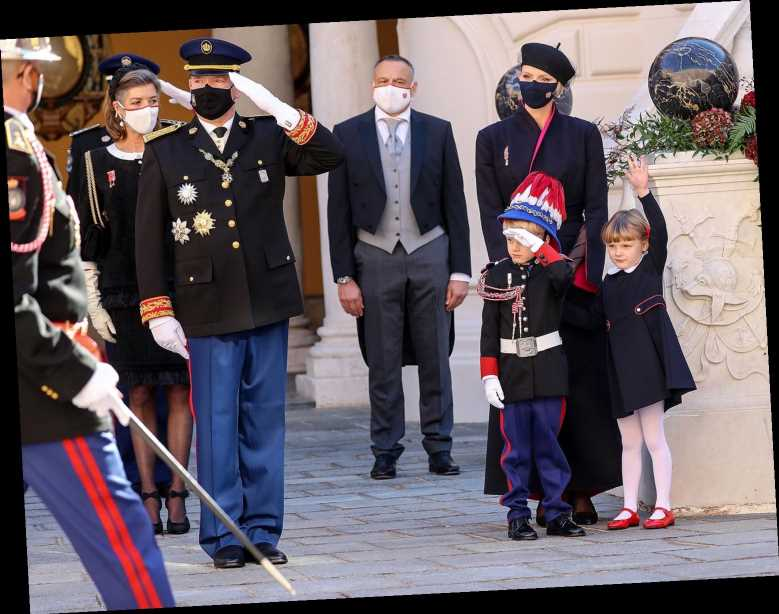 Prince Jacques, 5, Mirrors Dad Prince Albert's Salute at Masked Celebration for Monaco's National Day