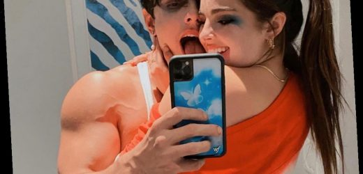 TikTok Stars Bryce Hall and Addison Rae Spotted Kissing While in Couple's Halloween Costume