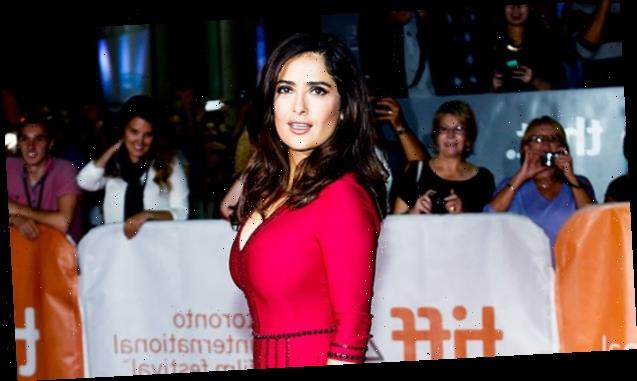 Salma Hayek, 54, Looks Incredible In Red Swimsuit While Hitting The Pool With Husband & Daughter, 13