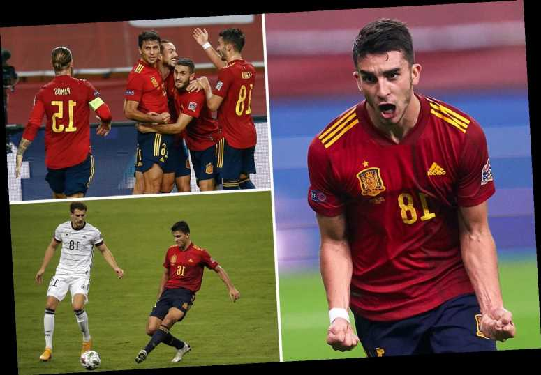 Spain 6 Germany 0: Man City's Ferran Torres nets rampant hat-trick as hosts seal place in Nations League finals