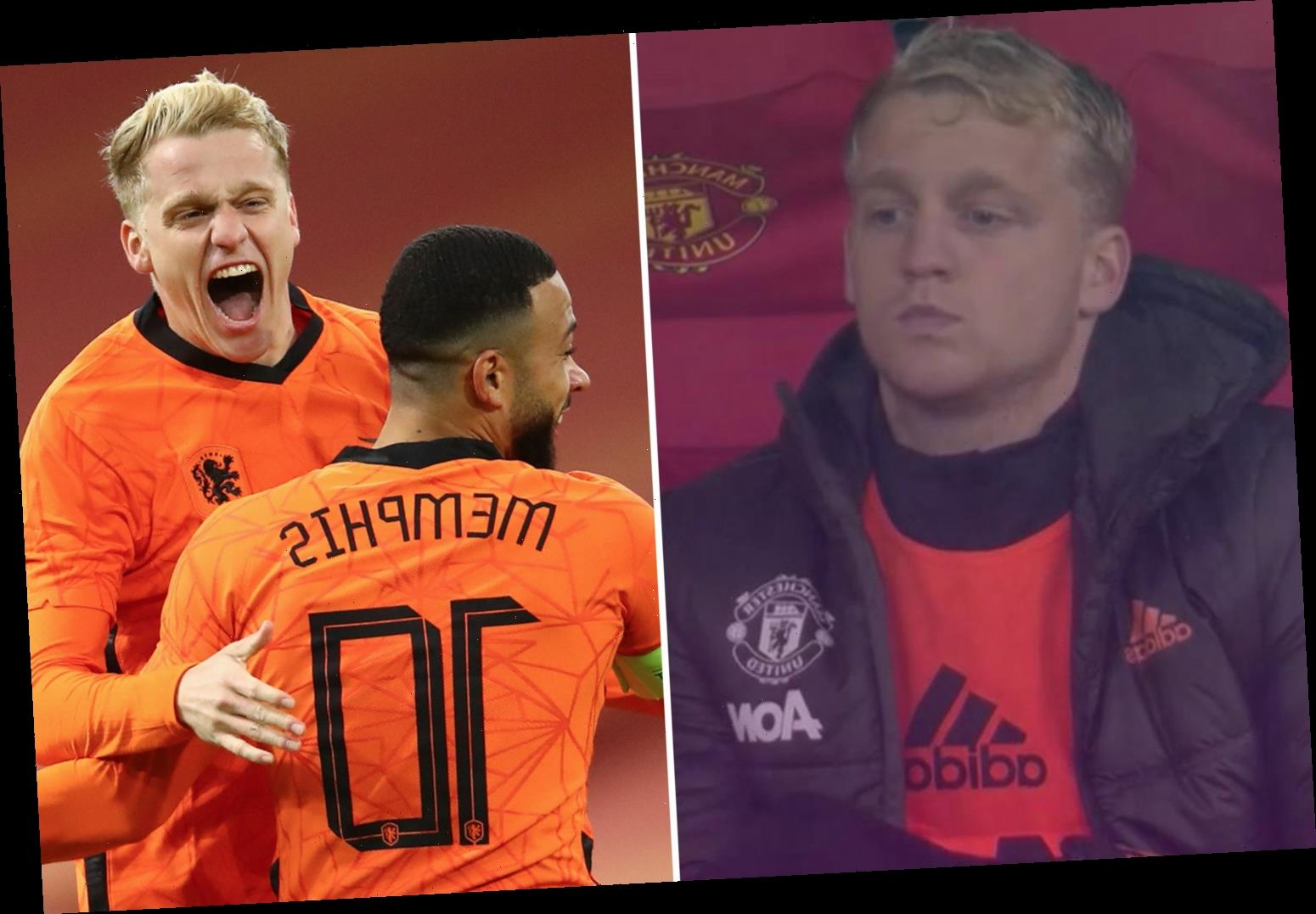 Holland 1 Spain 1: Donny van de Beek shows Man Utd what they're missing with goal in friendly