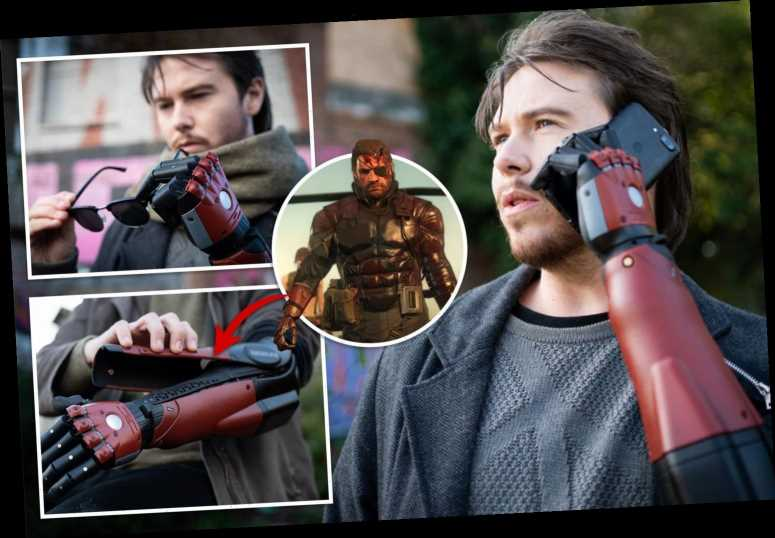 Keen gamer fitted with prosthetic arm inspired by console hit Metal Gear Solid