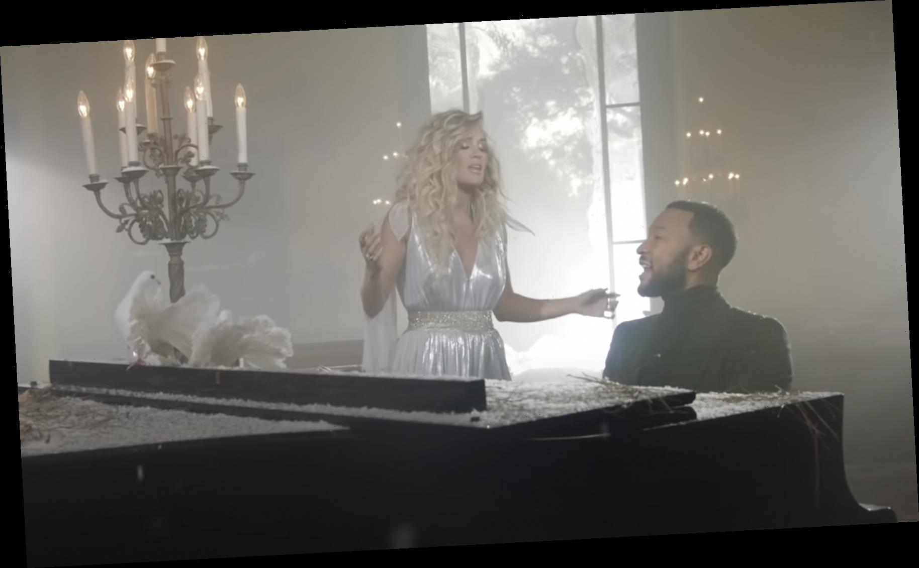 Carrie Underwood Unwraps Video for John Legend Christmas Duet 'Hallelujah'