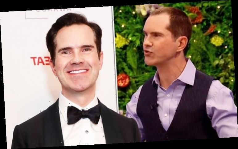 Jimmy Carr hair transplant on show on Big Fat Quiz of the Year 2020 – before and after