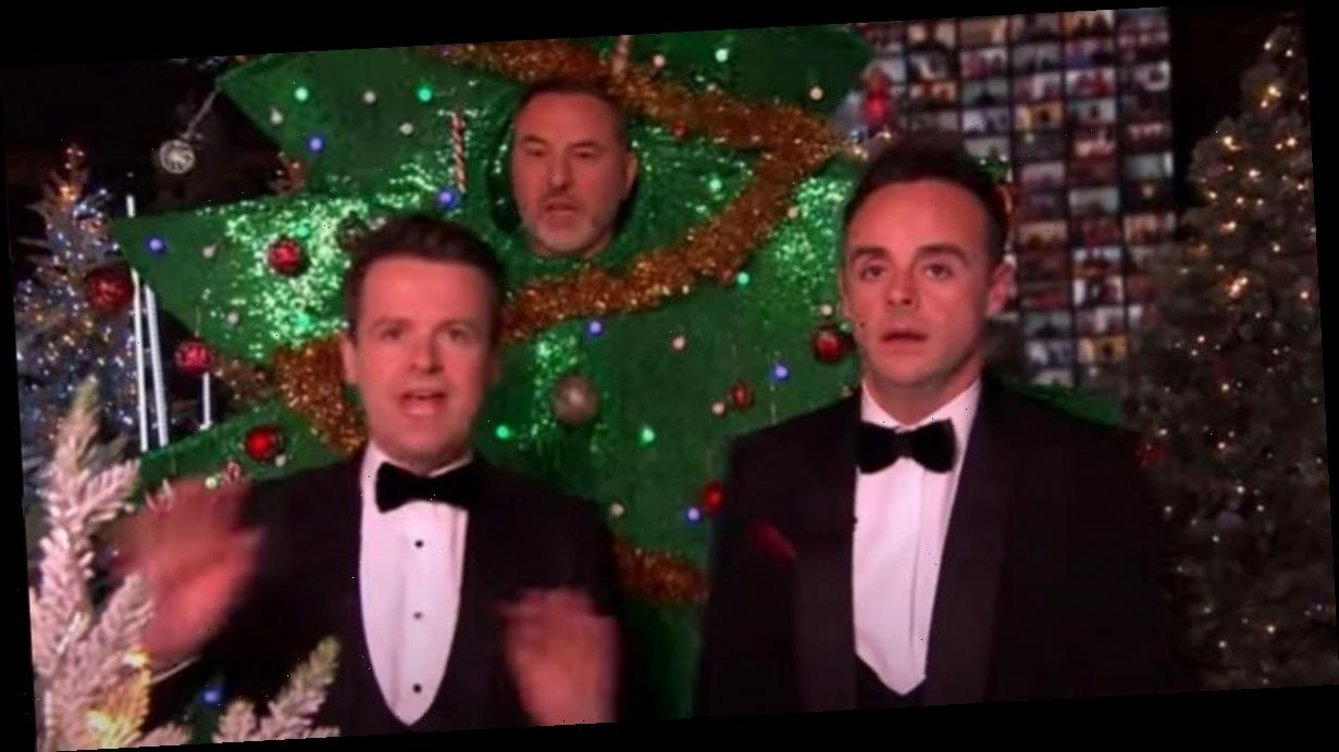 BGT's Ant gets annoyed with David Walliams who falls over during festive special