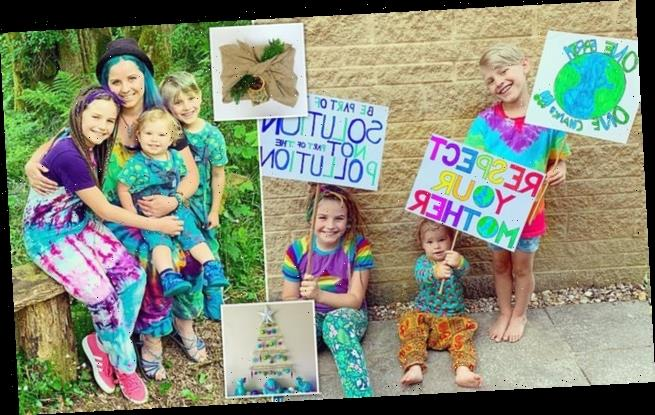 Eco-friendly mother aiming for a zero-waste Christmas