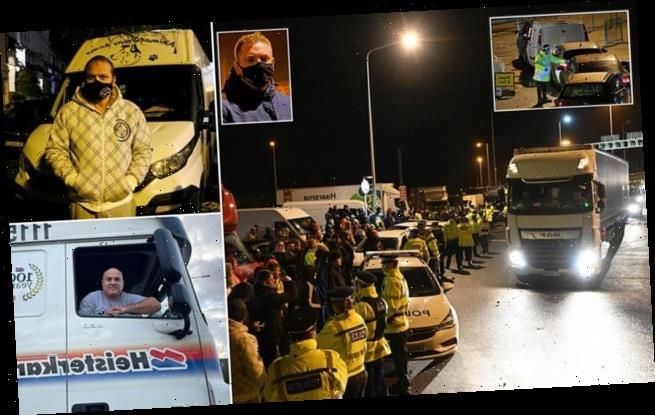 French firemen join fight to ease backlog of 6,000 lorries at Dover