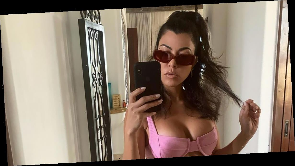 Kourtney Kardashian, 41, Looks Crazy Hot in a Bubblegum Pink Bikini