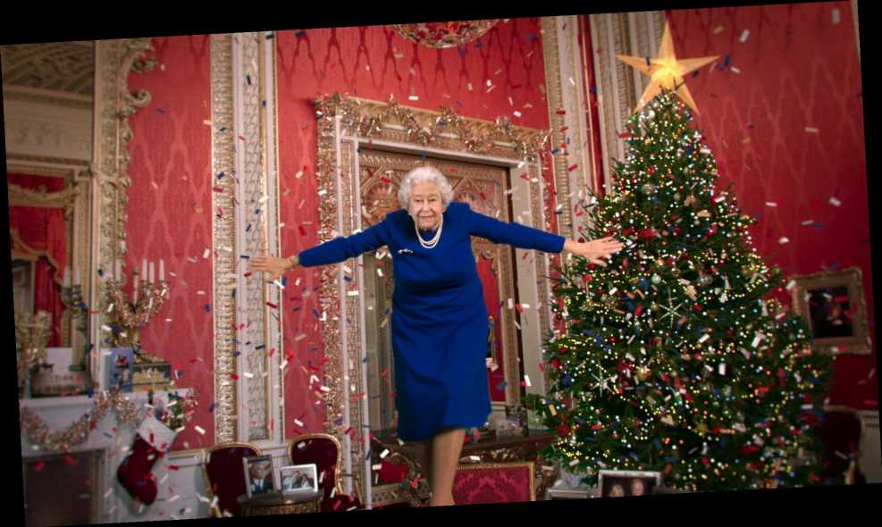 'The Queen' filmed dancing on table during Christmas message – but all is not as it seems