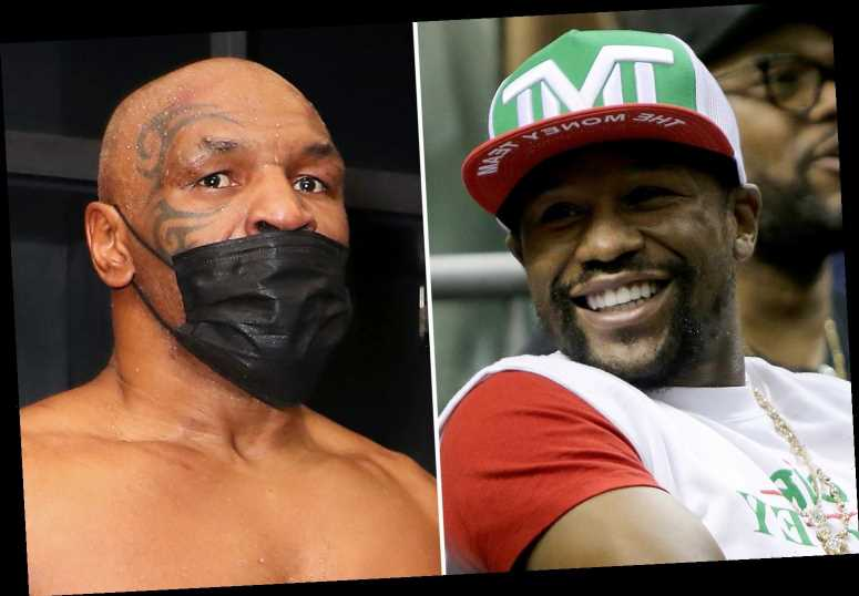 Mike Tyson hits back at Floyd Mayweather over boxing world title criticism and says more belts means extra money