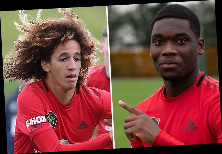 Man Utd kid Teden Mengi appears to criticise own team-mate Hannibal Mejbri on Instagram after drubbing by Chelsea U23s