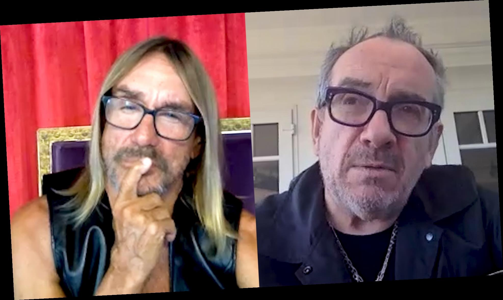 Elvis Costello and Iggy Pop Discuss Their Long-Ranging Friendship