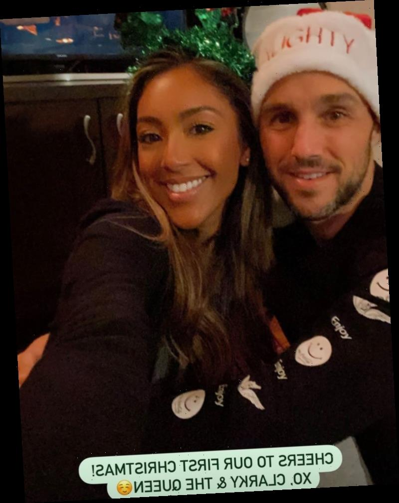 Tayshia Adams and Fiancé Zac Clark Spend Their First Christmas Together: 'My Heart Is So Full'