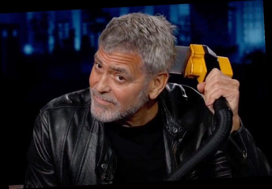 Watch George Clooney Prove He's a Flowbee Virtuoso by Cutting His Hair on Live TV