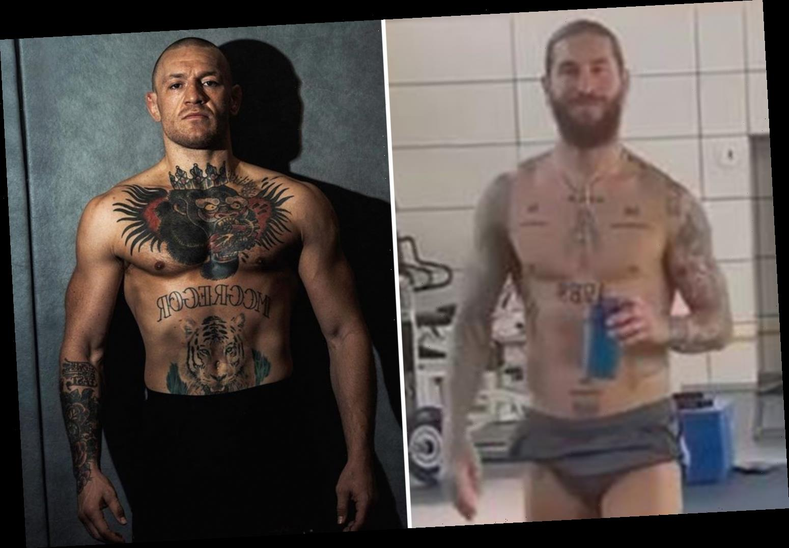 Conor McGregor tells Sergio Ramos to 'stay ready' after Real Madrid ace 'calls out' UFC star and shows off ripped body