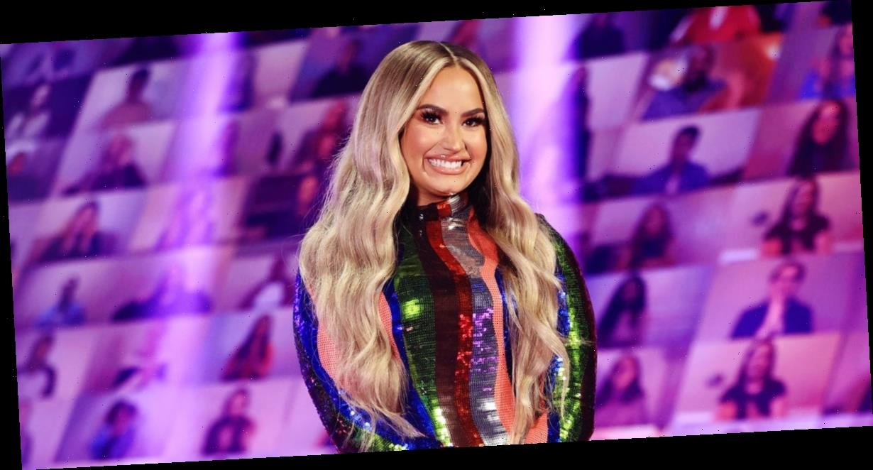 Demi Lovato wore glitter paint on her stretch marks to 'celebrate' her body amid recovery from an eating disorder