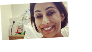 Saira Khan shares gruesome look at her stitches after surgery on broken ankle