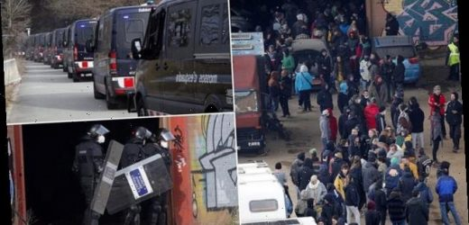 New Year party is stopped by riot police after 40 HOURS in Spain