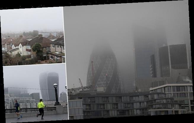 Britain gripped by freezing fog as Met Office issues ice warning