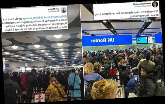 Huge crowds wait at Heathrow as travellers stream back into UK