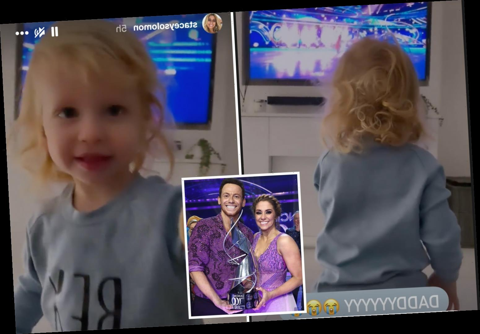 Stacey Solomon shares adorable video of son Rex screaming with excitement as he spots dad Joe Swash on Dancing On Ice