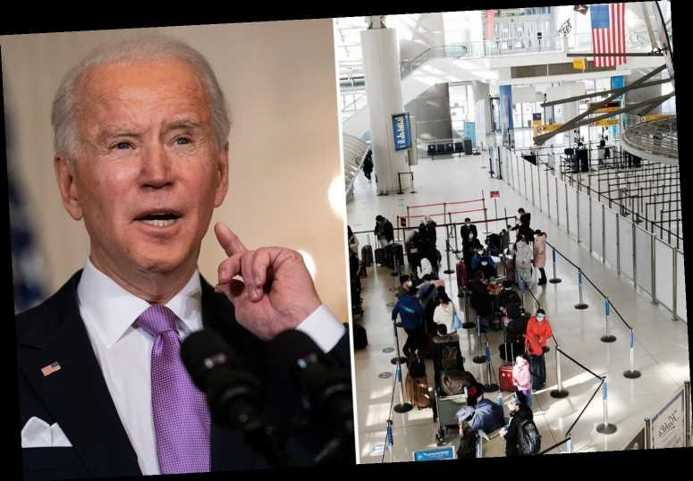 Biden 'considering making Covid tests for all air travel MANDATORY' despite fears for crippled airline industry