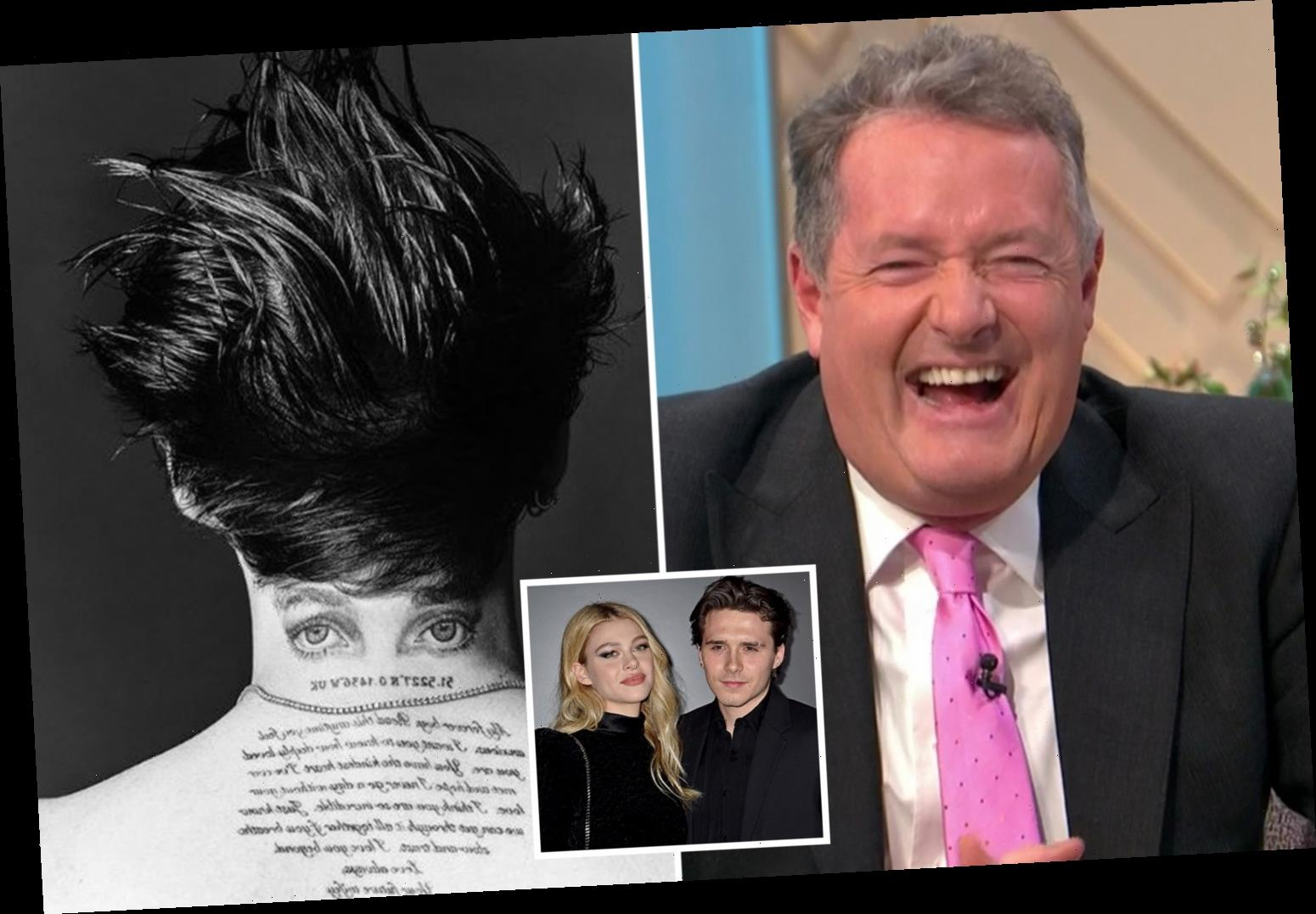 Piers Morgan slams Brooklyn Beckham's new tattoo as he gets his FIFTH tribute to fiancée Nicola Peltz inked on his back