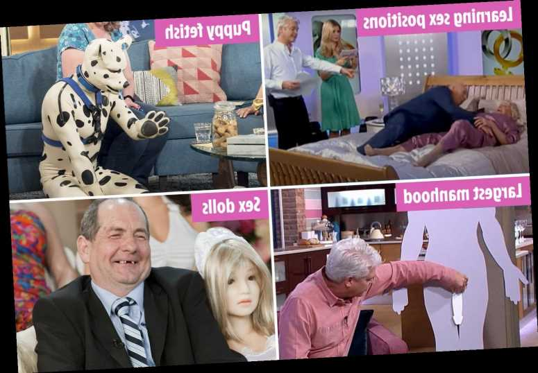 This Morning's sauciest moments relived – from sex dolls to a 'human puppy' & an 81-year-old cougar's very graphic romps