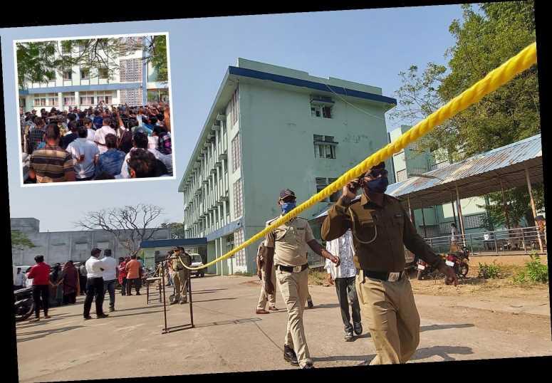 Ten newborn babies die in maternity unit blaze which tears through Indian hospital