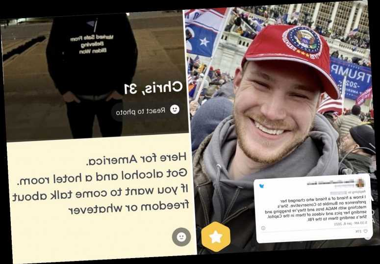 Women honey-trapping Capitol rioters by matching with them on Bumble dating app to send their info to FBI