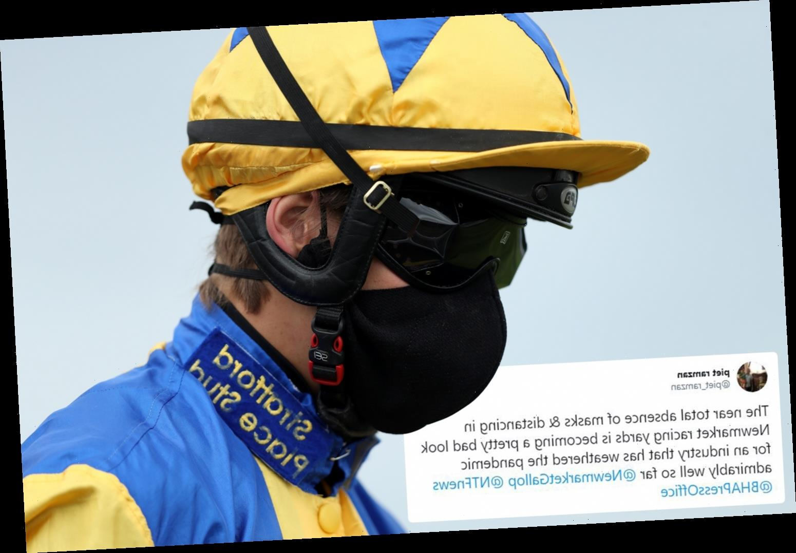 Coronavirus death in racing 'only a matter of time' because 'very few' people wear masks, claims leading vet