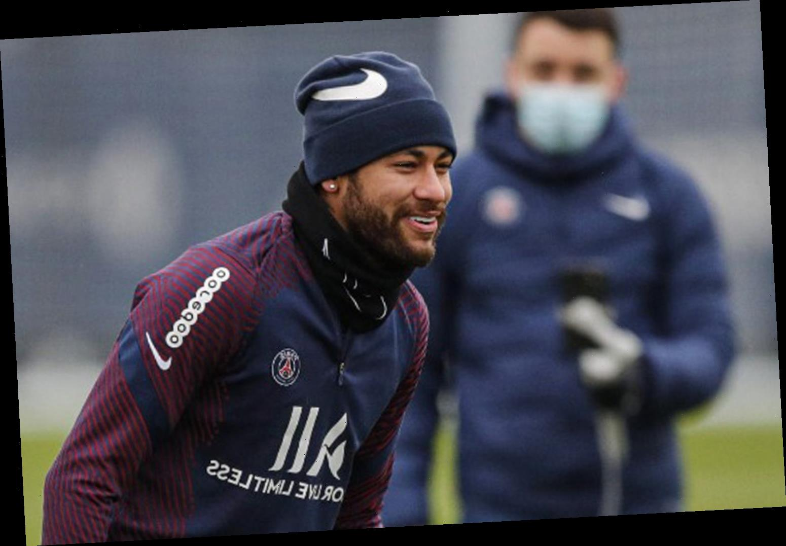 Neymar returns to PSG training after month out injured for first session with Pochettino in boost to new manager