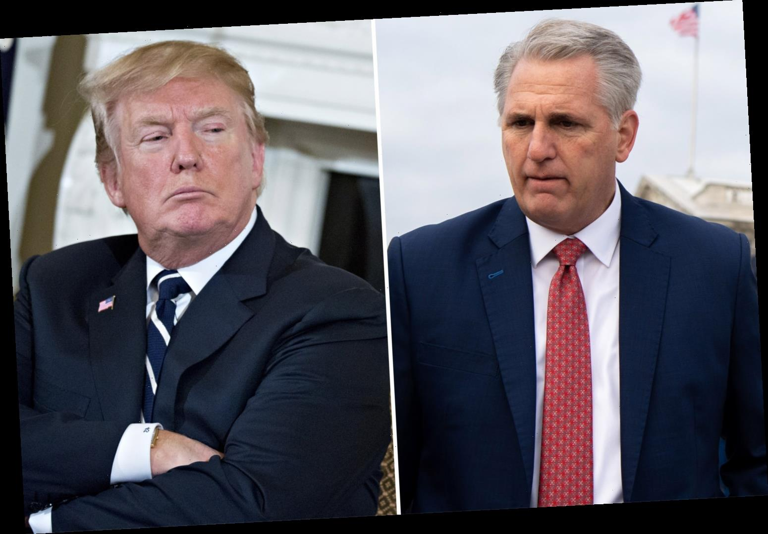 Trump had 'screaming match' with Republican leader Kevin McCarthy as Capitol chaos ensued and with impeachment looming